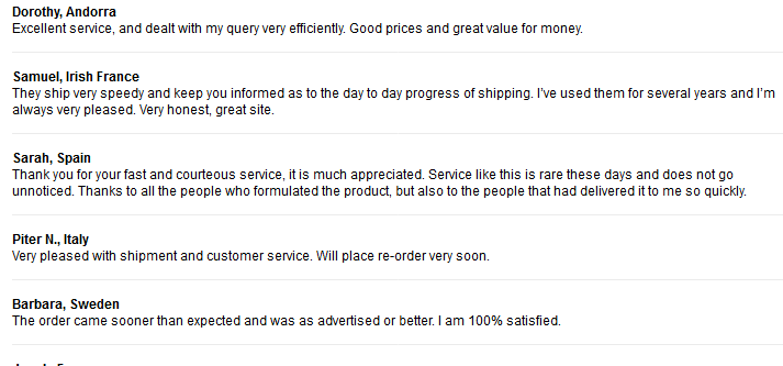 Cheap Pills Customer Feedback on the Service